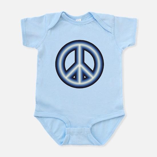 Blue Peace Symbol Infant Bodysuit