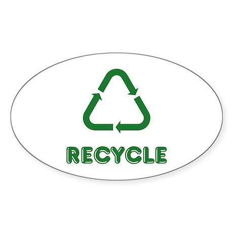 recycle Sticker (Oval 10 pk)