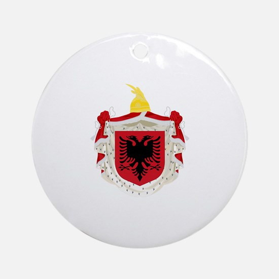 Albanian Kingdom Coat of Arms Ornament (Round)