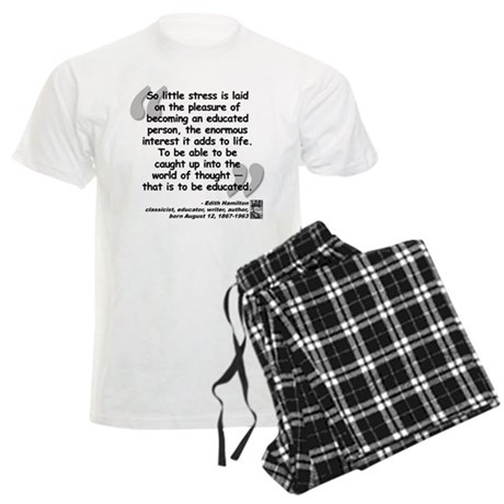 Hamilton Educated Quote Men's Light Pajamas