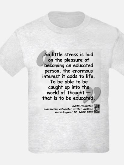 Hamilton Educated Quote T-Shirt