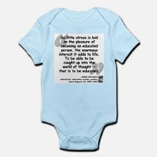 Hamilton Educated Quote Infant Bodysuit