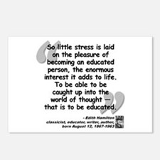 Hamilton Educated Quote Postcards (Package of 8)