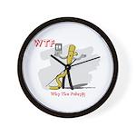 WTF - Why The Foley 03 Wall Clock
