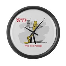 WTF - Why The Foley 03 Large Wall Clock