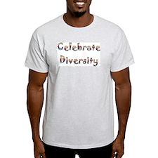 Celebrate Diversity Ash Grey T-Shirt