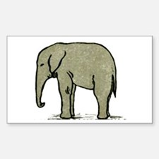 Cute Elephant Sticker (Rectangle)
