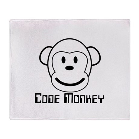 Code Monkey Throw Blanket