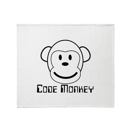 Code Monkey Throw Blanket