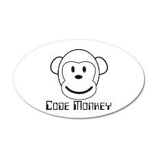 Code Monkey 22x14 Oval Wall Peel