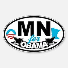 Minnesota for Obama 2012 Decal