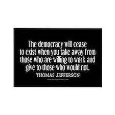 Jefferson Democracy Quote 2 Rectangle Magnet