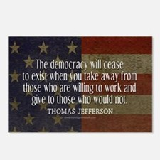 Jefferson Democracy Quote 2 Postcards (Package of