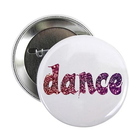 """Dance Glitter 2.25"""" Button"""