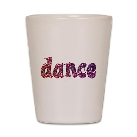 Dance Glitter Shot Glass