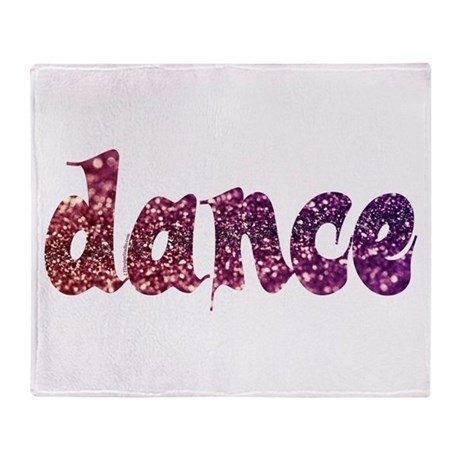 Dance Glitter Throw Blanket