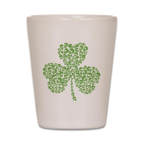 Skulls Shamrock Shot Glass