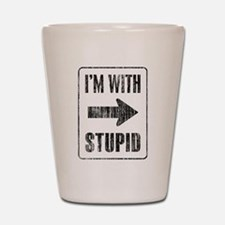 Vintage I'm With Stupid [r] Shot Glass