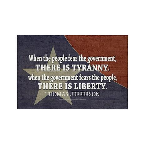 Liberty vs. Tyranny - New Rectangle Magnet