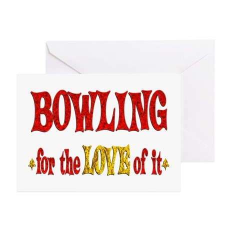 Bowling Love Greeting Cards (Pk of 10)