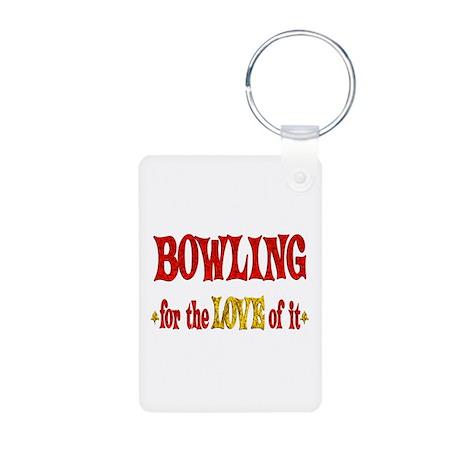 Bowling Love Aluminum Photo Keychain
