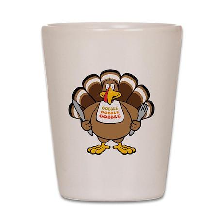Gobble Turkey Shot Glass