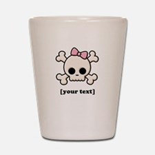 [Your text] Cute Skull Girl Shot Glass