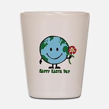 Happy Earth Day Shot Glass