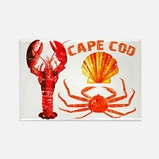 Cape Cod - Lobster, Crab and Rectangle Magnet