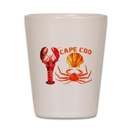 Cape Cod - Lobster, Crab and Shot Glass