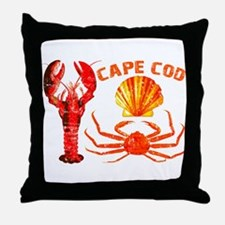 Cape Cod - Lobster, Crab and Throw Pillow