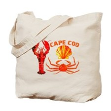 Cape Cod - Lobster, Crab and Tote Bag