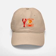 Baseball Baseball Cape Cod - Lobster, Crab and Baseball Baseball Cap