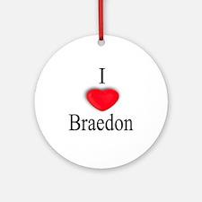 Braedon Ornament (Round)