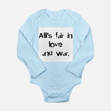 love and war Long Sleeve Infant Bodysuit