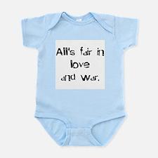 love and war Infant Bodysuit