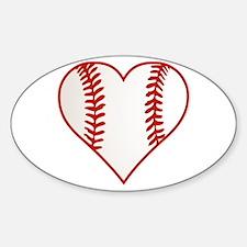 I Heart Baseball Graphic Decal