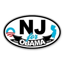 New Jersey for Obama 2012 Decal