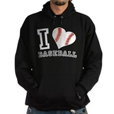I Love Baseball Graphic Hoodie
