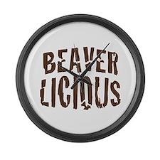 Beaver Licious Large Wall Clock