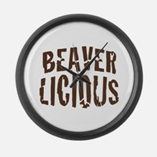 Beaver Licious Large Wall Clock