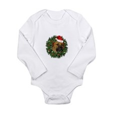 Boerboel Merry Christmas Long Sleeve Infant Bodysu