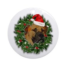 Boerboel Merry Christmas Ornament (Round)