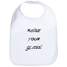 raise your glass Bib