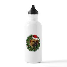 Boerboel Merry Christmas Water Bottle