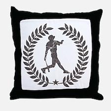 Cool Vintage Baseball Graphic Throw Pillow