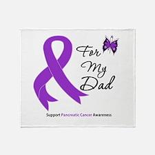 Pancreatic Cancer Dad Throw Blanket