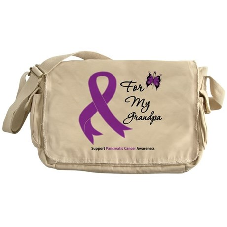 Pancreatic Cancer Grandpa Messenger Bag