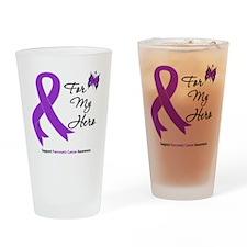 Pancreatic Cancer Hero Drinking Glass