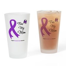 Pancreatic Cancer Mom Drinking Glass